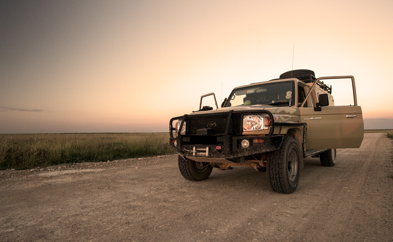 We wait for nightfall while tracking the movement of the blue cranes. And this beast is the almighty Toyota Landcruiser that is so well respected in Africa.