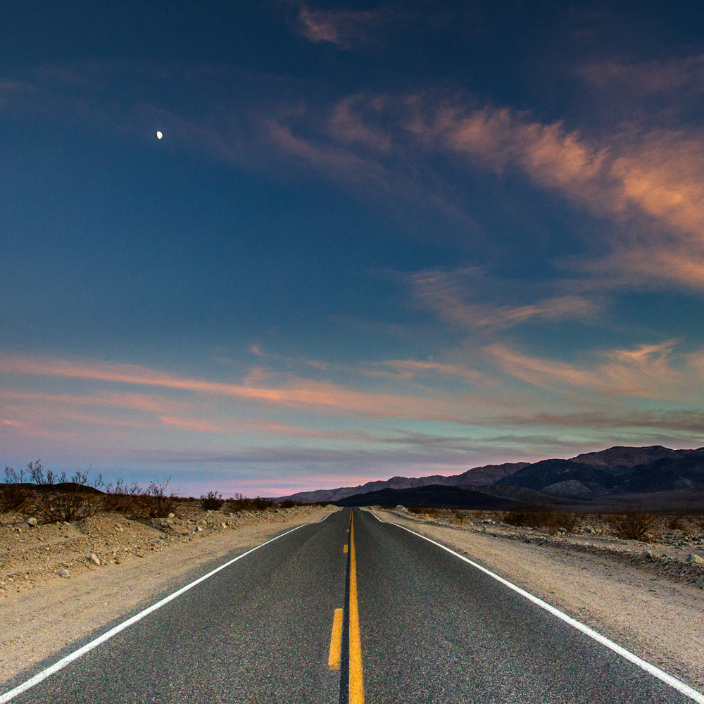 Road through Death Valley