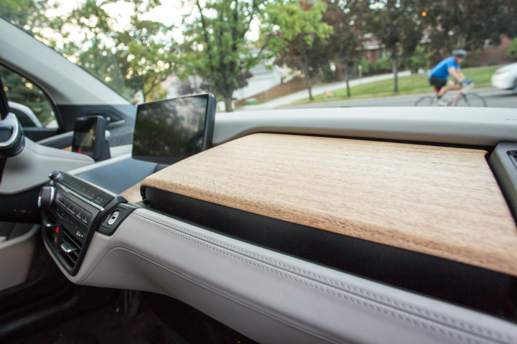 The eucalyptus wood dashboard adds a touch of eco-friendly and is unlike any other car I have seen. It feels as good as it looks!